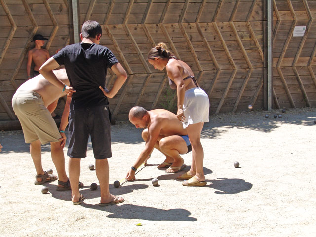 Petanque games at the campsite in the Herault near Montpellier